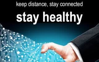 keep distance stay connected news querformat