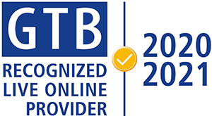 GTB Recognized Live Online Provider 2020 2021 Badge