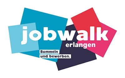 jobwalk erlangen logo news querformat